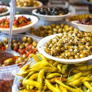 Visit in the Athens food market during Greek food tour