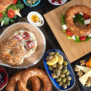 Athens morGreek breakfast during morning food tour in Athensning food tour