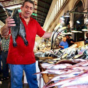 Varvakios fish market in Athens