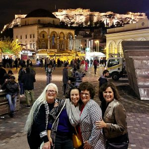 Monastriaki square with Acropolis in the background