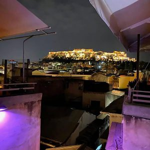 Rooftop bar in Athens