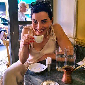 Greek coffee in Athens food market