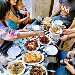 Meze plates lunch