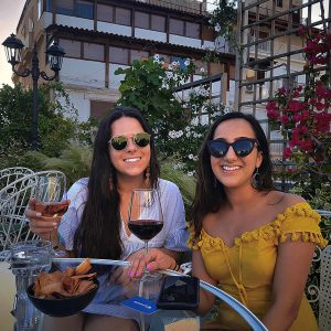 Drinking wine in Athens