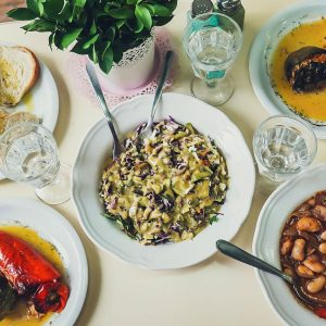 Vegan lunch during Athens vegan food tour